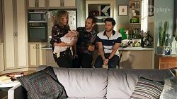 Jane Harris, Isla Tanaka-Brennan, Aaron Brennan, David Tanaka in Neighbours Episode 8684