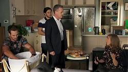 Aaron Brennan, David Tanaka, Paul Robinson, Jane Harris in Neighbours Episode 8684