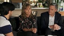 David Tanaka, Jane Harris, Paul Robinson in Neighbours Episode 8684