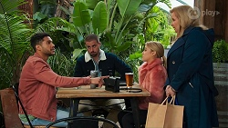 Levi Canning, Kyle Canning, Roxy Willis, Sheila Canning in Neighbours Episode 8685
