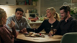 Roxy Willis, Sheila Canning, Levi Canning, Amy Greenwood, Ned Willis in Neighbours Episode 8685