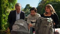 Paul Robinson, David Tanaka, Terese Willis in Neighbours Episode 8687