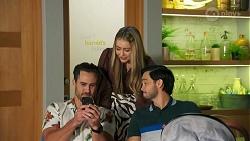 Aaron Brennan, Chloe Brennan, David Tanaka in Neighbours Episode 8688