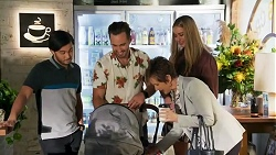 David Tanaka, Aaron Brennan, Susan Kennedy, Chloe Brennan in Neighbours Episode 8689
