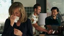 Jane Harris, Aaron Brennan, David Tanaka in Neighbours Episode 8689
