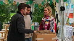 Ned Willis, Levi Canning, Amy Greenwood in Neighbours Episode 8689