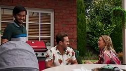 David Tanaka, Aaron Brennan, Amy Greenwood in Neighbours Episode 8689