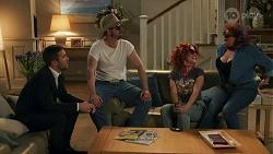 Ned Willis, Kyle Canning, Roxy Willis, Terese Willis in Neighbours Episode 8690