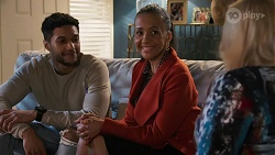 Levi Canning, Evelyn Farlow, Sheila Canning in Neighbours Episode 8690