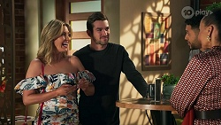 Amy Greenwood, Ned Willis, Levi Canning, Evelyn Farlow in Neighbours Episode 8691