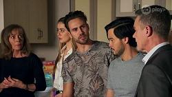 Jane Harris, Chloe Brennan, Aaron Brennan, David Tanaka, Paul Robinson in Neighbours Episode 8705
