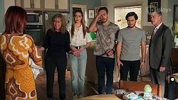 Nicolette Stone, Jane Harris, Chloe Brennan, Aaron Brennan, David Tanaka, Paul Robinson in Neighbours Episode 8705