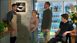 Ned Willis, Roxy Willis, Kyle Canning, Hendrix Greyson in Neighbours Episode 8708