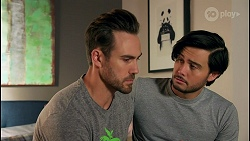 Aaron Brennan, David Tanaka in Neighbours Episode 8710