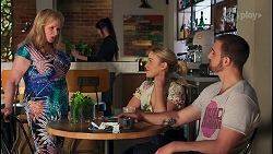 Sheila Canning, Roxy Willis, Kyle Canning in Neighbours Episode 8710