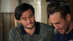 David Tanaka, Aaron Brennan in Neighbours Episode 8710