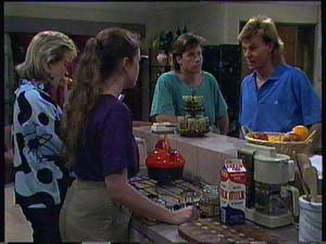 Scott Robinson, Kelly Morgan, Mike Young, Daphne Clarke in Neighbours Episode 0408