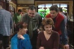 Joe Scully, Karl Kennedy, Lyn Scully, Susan Kennedy in Neighbours Episode 4136
