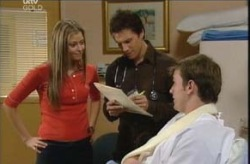 Felicity Scully, Darcy Tyler, Stuart Parker in Neighbours Episode 4137