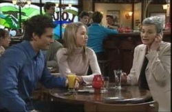 Darcy Tyler, Jordan Lambert, Chloe Lambert in Neighbours Episode 4140