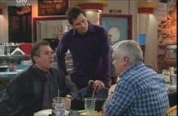 Karl Kennedy, Darcy Tyler, Lou Carpenter in Neighbours Episode 4140