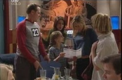 Max Hoyland, Libby Kennedy, Summer Hoyland, Steph Scully, Boyd Hoyland in Neighbours Episode 4141