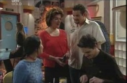 Lori Lee, Lyn Scully, Toadie Rebecchi, Jack Scully in Neighbours Episode 4142