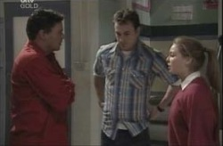 Joe Scully, Michelle Scully, Stuart Parker in Neighbours Episode 4143
