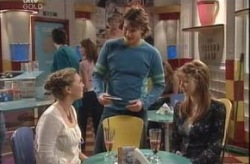 Michelle Scully, Taj Coppin, Nina Tucker in Neighbours Episode 4148