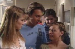 Taj Coppin, Nina Tucker, Michelle Scully in Neighbours Episode 4149