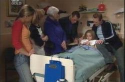 Steph Scully, Boyd Hoyland, Rosie Hoyland, Martin Cook, Summer Hoyland, Max Hoyland in Neighbours Episode 4150