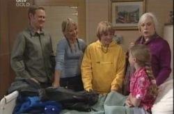 Max Hoyland, Steph Scully, Boyd Hoyland, Rosie Hoyland, Summer Hoyland in Neighbours Episode 4150