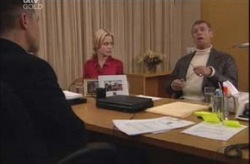 Bill Mott, Dee Bliss, Martin Cook in Neighbours Episode 4154