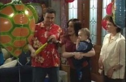 Joe Scully, Libby Kennedy, Ben Kirk, Lyn Scully in Neighbours Episode 4154