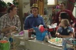 Stuart Parker, Darcy Tyler, Karl Kennedy, Libby Kennedy, Ben Kirk in Neighbours Episode 4154