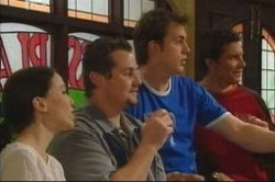 Libby Kennedy, Toadie Rebecchi, Stuart Parker, Darcy Tyler in Neighbours Episode 4181