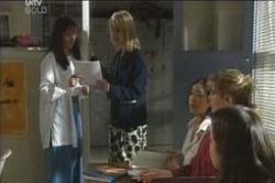 Susan Kennedy, Candace Barkham, Lori Lee, Nina Tucker in Neighbours Episode 4186