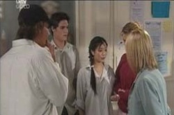 Taj Coppin, Jack Scully, Lori Lee, Nina Tucker, Candace Barkham in Neighbours Episode 4186