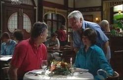 Hank Ellis, Lou Carpenter, Mary Ellis in Neighbours Episode 4190