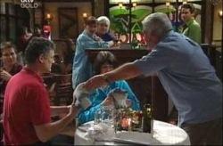 Hank Ellis, Mary Ellis, Lou Carpenter in Neighbours Episode 4190