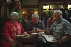 Max Hoyland, Rosie Hoyland, Lou Carpenter, Harold Bishop in Neighbours Episode 4194