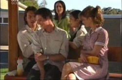 Taj Coppin, Jack Scully, Libby Kennedy, Lori Lee, Nina Tucker in Neighbours Episode 4199