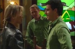 Alex Argenzio, Max Hoyland, Steph Scully in Neighbours Episode 4203