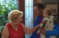 Valda Sheergold, Karl Kennedy, Ben Kirk in Neighbours Episode 4205