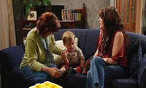 Susan Kennedy, Libby Kennedy, Ben Kirk in Neighbours Episode 4477