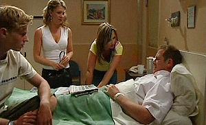 Boyd Hoyland, Izzy Hoyland, Steph Scully, Max Hoyland in Neighbours Episode 4483