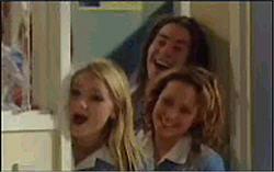 Dylan Timmins, Serena Bishop, Sky Mangel in Neighbours Episode 4831