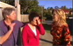 Joe Mangel, Lyn Scully, Janelle Timmins in Neighbours Episode 4834