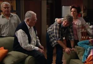Lou Carpenter, Harold Bishop, Joe Mangel, Lyn Scully in Neighbours Episode 4838