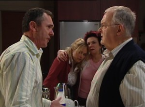 Harold Bishop, Karl Kennedy, Janelle Timmins, Lyn Scully in Neighbours Episode 4838
